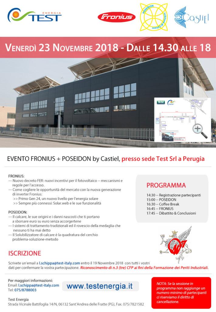 INCONTRO TECNICO FRONIUS E POSEIDON BY CASTIEL PRESSO SEDE TEST SRL A PERUGIA @ TEST SRL